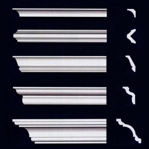 Карнизы (потолочный плинтус) с гладким профилем