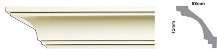 плинтус потолочный стусло
